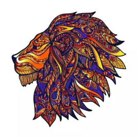 Houten Puzzel A3 COLORFUL LION