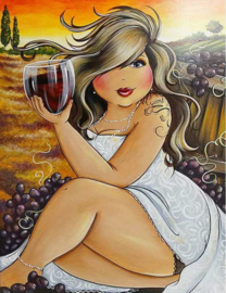 Diamond Painting ML Budget Wine Girl