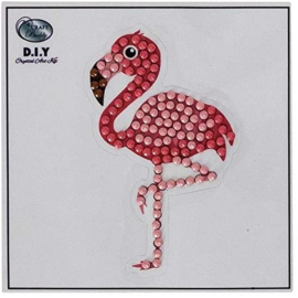 Crystal Art Sticker Flamingo