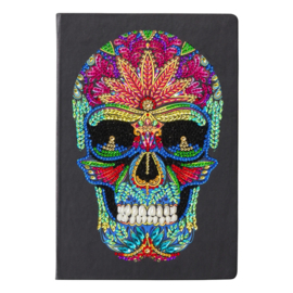 Diamond Painting Crystal Art Notebook Kit Skull