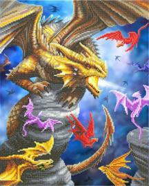 Diamond Painting Crystal Art Dragon Clan  40x50  Partial Crystal