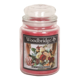 Say It With Flowers 565g Large Candle
