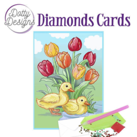 Diamond Painting kaart Ducks