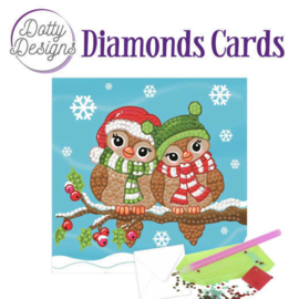 Diamond Painting Kerstkaart  Christmas Owls
