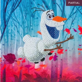 Diamond Painting Disney kaart Frozen II Floating Olaf