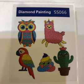 Diamond Painting Stickerset Dieren