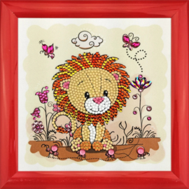 Diamond Painting Crystal Art Lion Meadow 16x16 Partial Crystal