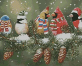 Diamond Painting Miss Coccinelle Cardinals in the Snow