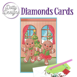 Diamond Painting Kerstkaart Gingerbread Dolls