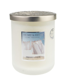 Heart & Home candle 340gr Fresh Linen
