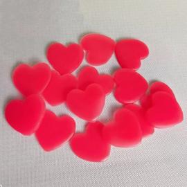 10 roze hartjes waxblokjes