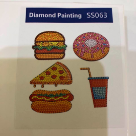 Diamond Painting Stickerset Fastfood