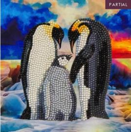 Diamond Painting Wenskaart Penguin Family