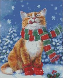 Diamond Painting Miss Coccinelle  Winter Cat