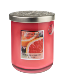 Heart & Home candle 340gr Pink Grapefruit & Cassis