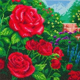Diamond Painting Crystal Art A Perfect Red Rose 30x30 Full