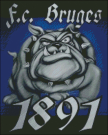 Diamond Painting Miss Coccinelle FC Bruges 1891 Bulldog