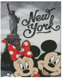 Diamond Painting Miss Coccinelle  Minnie & Mickey in New York 40x50