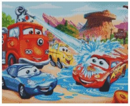 Diamond Painting Miss Coccinelle  Cars 40x50