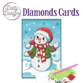 Diamond Painting Kerstkaart  Happy Snowman