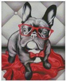 Diamond Painting Miss Coccinelle  Franse Bulldog 40x50