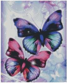 Diamond Painting Miss Coccinelle  Vlinders 40x50