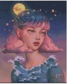 Diamond Painting Miss Coccinelle  Het Weermeisje  40x50
