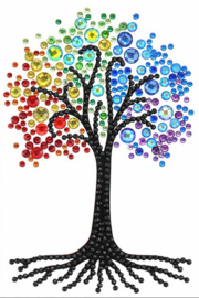 Diamond Painting Wenskaart Rainbow Tree