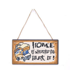 Diamond Painting Hanger hout Camper Home