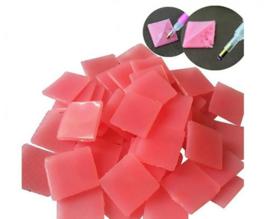 10 roze waxblokjes
