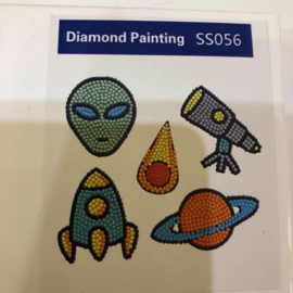 Diamond Painting Stickerset Ruimte