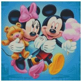 Diamond Painting Miss Coccinelle  Minnie & Mickey 50x50
