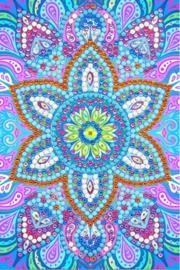 Diamond Painting Wenskaart Blue Mandala