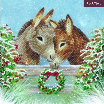 Diamond Painting Wenskaart  Donkey Love