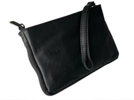 Zwart polstasje/handtasje met rits