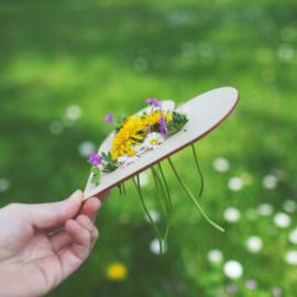 Houten bloemenhouder - GROOT 1