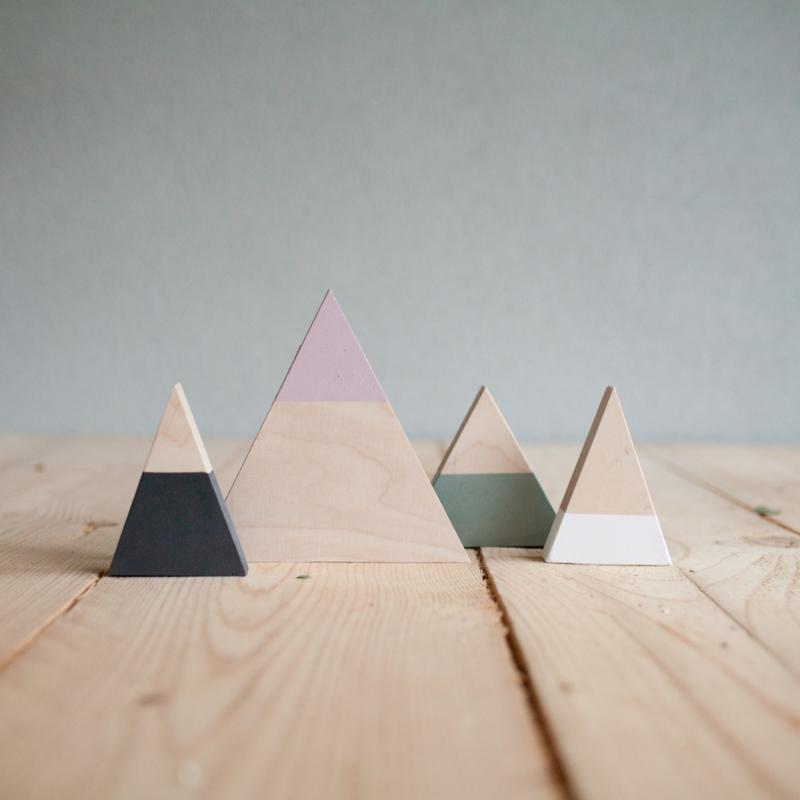 Set houten bergen 11