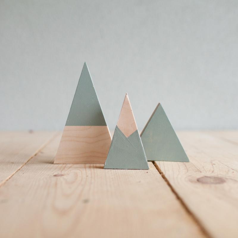Set houten bergen 4
