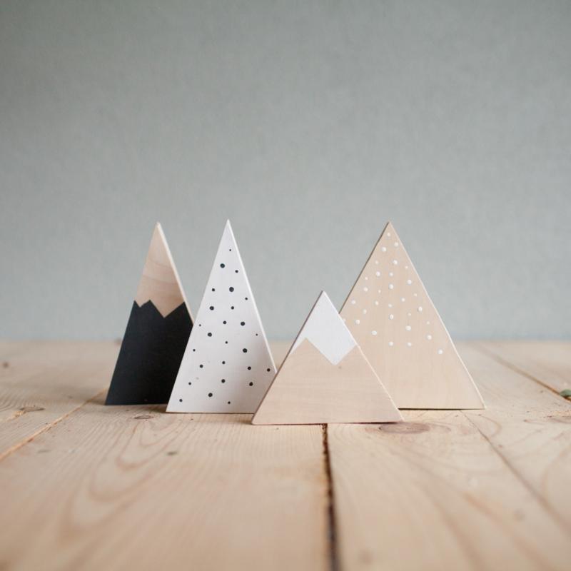 Set houten bergen 8