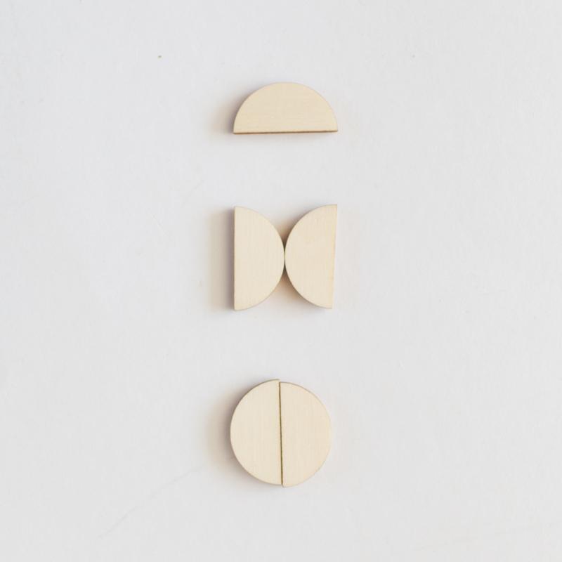 Set magneetjes - halve rondjes