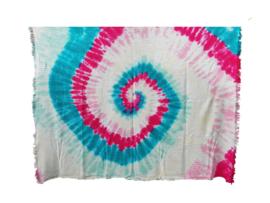 Tie dye plaid spiral roze groen
