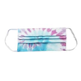 Wasbaar mondkapje tie dye spiral pastel