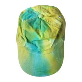 Tie Dye sportcap chartreuse groen