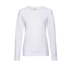 Dames sweater met raglanmouw - wit