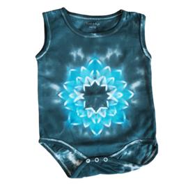 Tie Dye rompertje blauwe lotus - 86-92