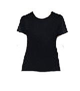 T-shirt zwart - ronde hals - dames