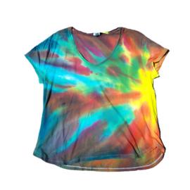 Tie dye T-shirt - aurora - Maat L