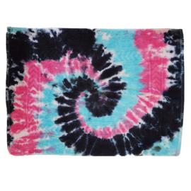 Tie dye badmat roze blauw zwart