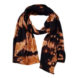 Reverse Tie Dye sjaaltje zwart