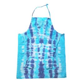 Tie dye schort blauwtinten
